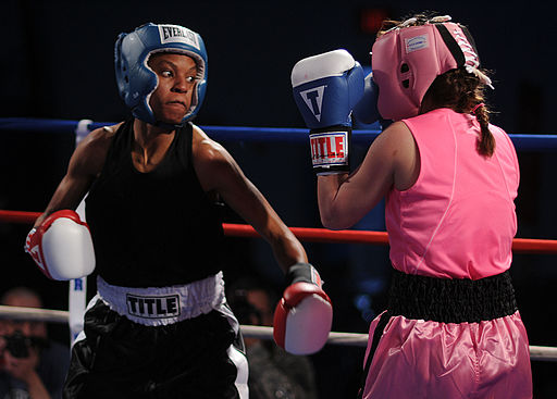 512px-US_Navy_110215-N-2610F-097_Master-at-Arms_Seaman_Rhonda_McGee2C_left2C_spars_with_Patricia_Cuevas_during_an_exhibition_match_in_the_preliminary_round