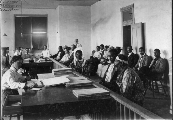 Chickasaw Freedmen filing for allotment in Oklahoma