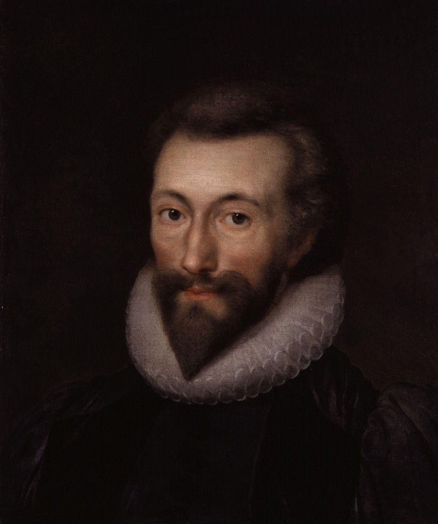 Isaac Oliver's contemporary painting of John Donne (National Portrait Gallery, London: NPG 1849)