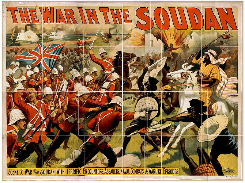 1897 print depicting a battle between British forces and Mahdist fighters in the Sudan (Library of Congress)