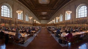 The New York City Public Library's Research Room (Wikipedia/User Diliff)