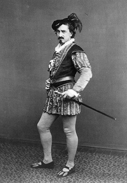Photographic full-length portrait of Edwin Booth as Iago in Shakespeare's Othello, the Moor of Venice, c. 1870