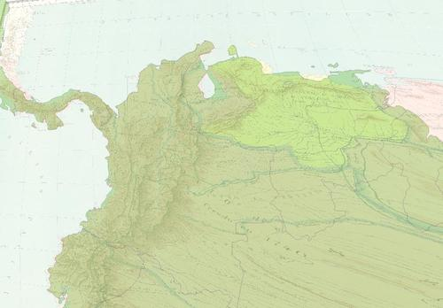 Image of historical map geo-referenced on top of present day map.