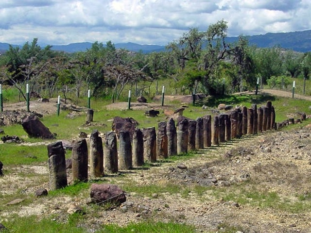 Ruins of an ancient Muisca temple at El Infiernito (the little hell) near Villa de Leyva.