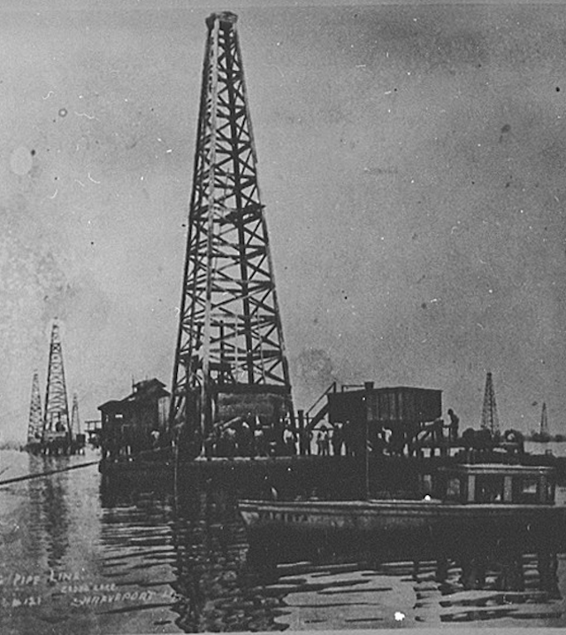 Drilling for Oil on Caddo Lake