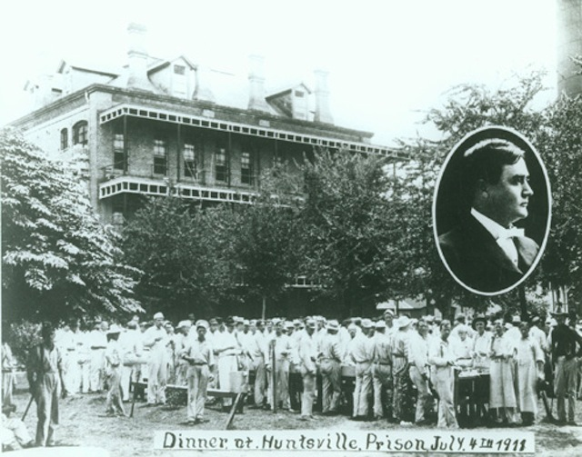 Prisoners assemble for the visit of Governor Colquitt, July 4, 1911.