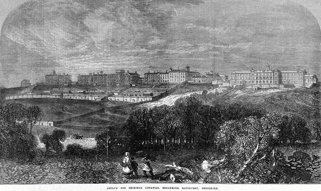 Asylum for Criminal Lunatics, Broadmoor, Sandhurst, Berkshire. Printed in Illustrated London News 1867.