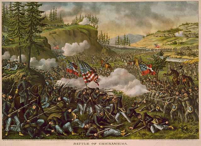 Battle of Chickamauga. Via Wikipedia.