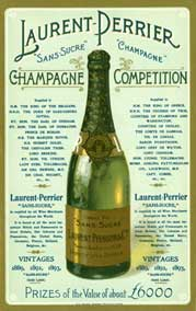 Edwardian English advert for the French Champagne, listing its honours and its many royal drinkers