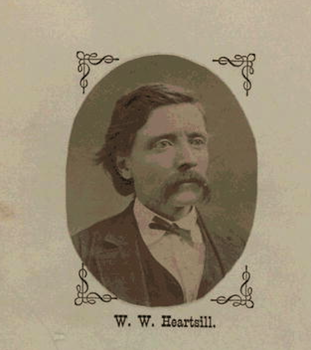 Portrait of Heartsill included on the first page of diary. Via Library of Congress.
