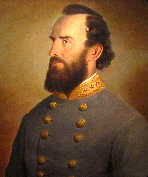 A portrait of Stonewall Jackson (1864) held in the National Portrait Gallery. Via Wikipedia.