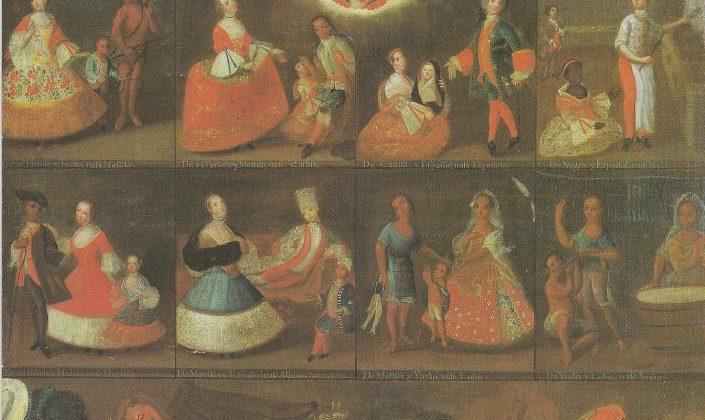 Casta painting from Luis de Mena.