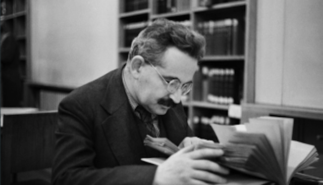 Walter Benjamin at work.