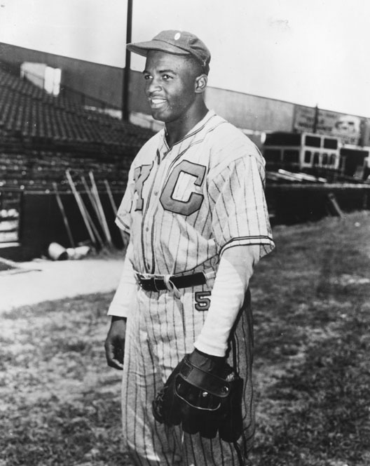 Jackie Robinson with the Kansas City Monarchs, 1945. Photo courtesy of the Digital Public Libraries of America and the Library of Congress.