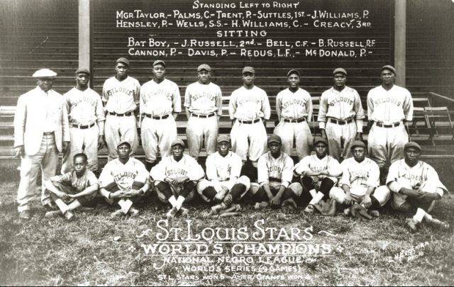 1928 National Negro League Champion St. Louis Stars. Photo courtesy of the Missouri History Museum.