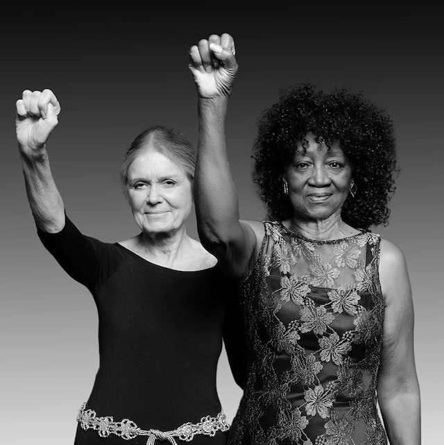 Gloria Steinem and Dorothy Pitman Hughes in 2014.