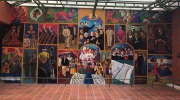 Picture of a mural at the Museo Nacional de Antropología (National Museum of Anthropology), San Salvador