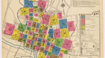 Map of Austin, Texas depicting the city's various neighborhoods
