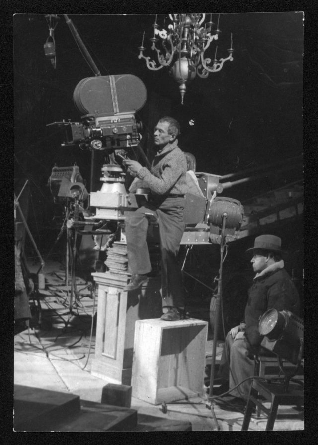 Camera operator Andrei Moskvin and Sergei Eisenstein on the set of Ivan the Terrible