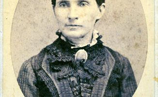 Black and white image of Lizzie Scott Neblett
