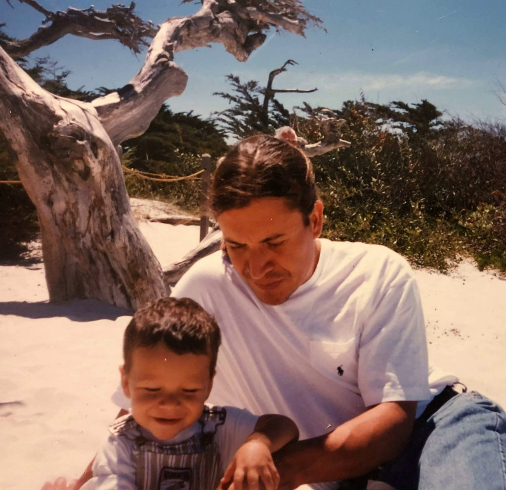 Ilan and his father. Los Angeles, California.