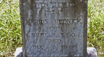 Gravestone of Harris Rednick from a graveyard in Luling, Texas