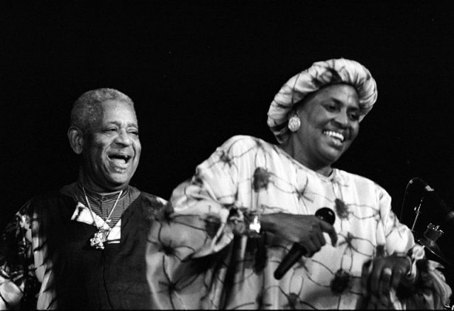 Miriam Makeba and Dizzy Gillespie in concert (1991).