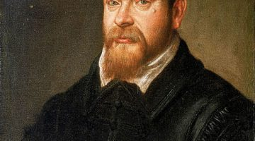 Portrait of seventeenth-century century Italian mathematician and astronomer Galileo Galilei