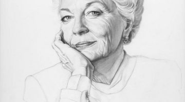 Black and white portrait of Texas Governor Ann Richards