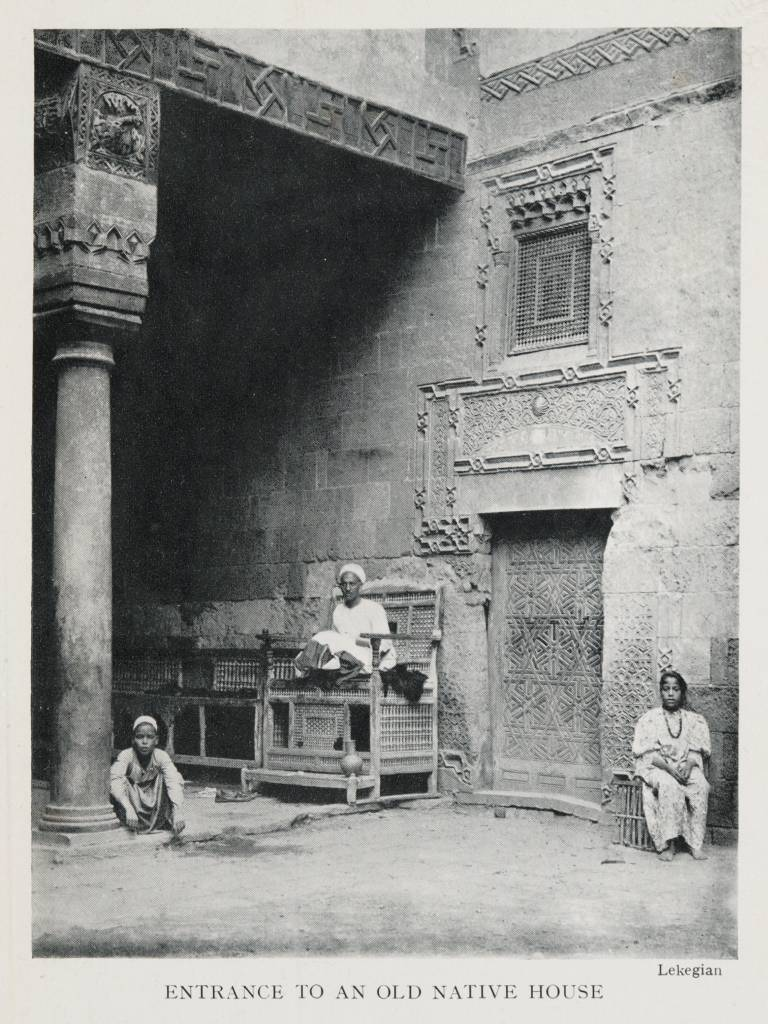 "Postcard entitled, ""Entrance to an Old Native House,"" 1906 (Lekegian, G. Entrance to an Old Native House (1906). From Travelers in the Middle East Archive (TIMEA). http://hdl.handle.net/1911/20913)"