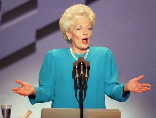 Ann Richards speaking at the 1988 Democratic Convention (Associated Press)