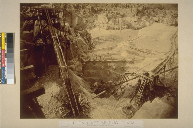 """ Excavation of River Gravel"" (UC Berkeley, Bancroft Library)"