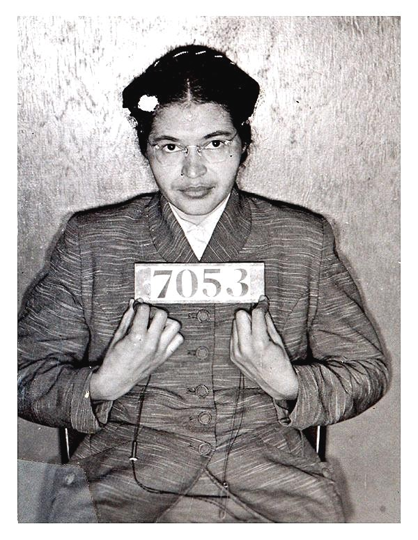Rosa Parks' mug shot after being arrested on December 1, 1955 for refusing to give up her seat on a Montgomery bus (Wikipedia)