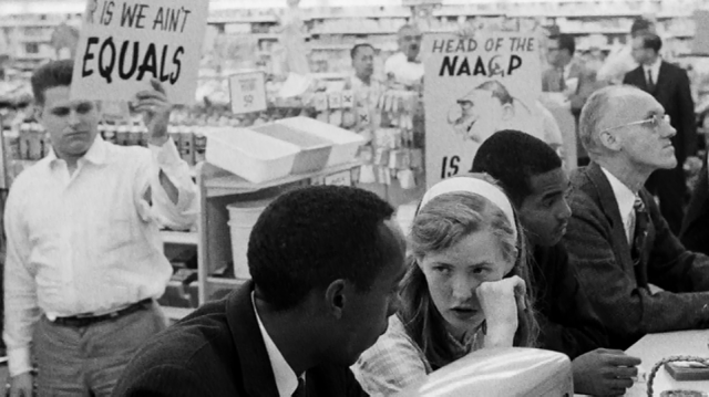 "Mulholland participating in a sit-in in Northern Virginia. (""An Ordinary Hero,"" Dir. Loki Mulholland. Taylor Street Films, 2013)"