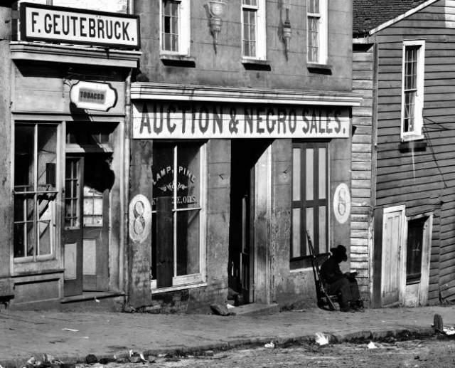 A slave trading business in Atlanta, 1864 (Wikipedia)