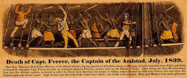 Color Engraving and Frontispiece from John Warner Barber (1840). A History of the Amistad Captives. New Haven, Connecticut 1840