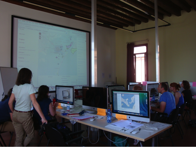 Mac Lab at Venice International University. Venice Visualization Workshop, June 2014. Photo: Maria José Afanador-Llach