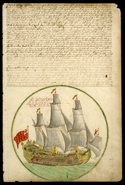 The 'Cadiz Merchant' under way, 1682 Plate from Edward Barlow's journal of his life at sea in king's ships, East & West Indiamen & other merchantmen from 1659 to 1703 ((National Maritime Museum, Greenwich, UK)