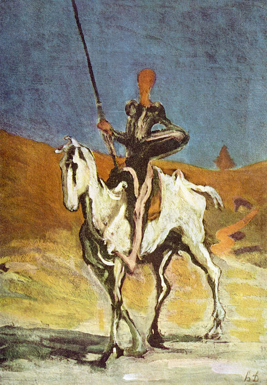 Honoré Daumier, Don Quichotte und Sancho Pansa {Don Quijote and Sancho Panza} (Circa 1868)