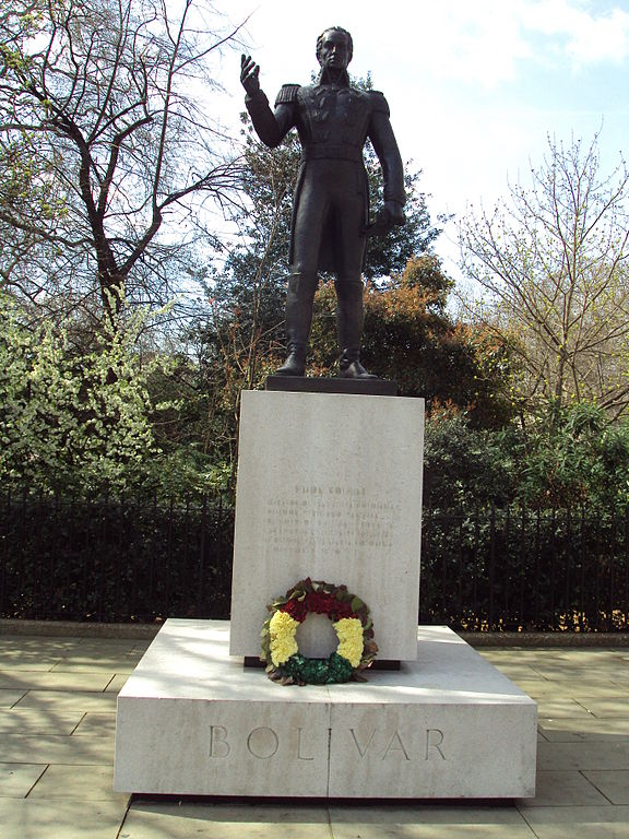 Bolivar statue, Belgrave Square, London (Via Wikimedia commons)