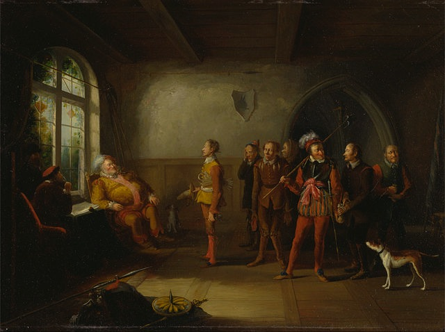 John Cawse: Falstaff and the recruits from Henry IV, Part II, (1818)