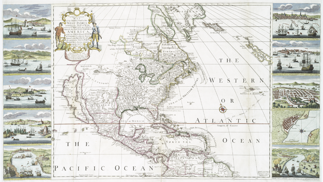A new & correct map of the trading part of the West Indies, 1741.