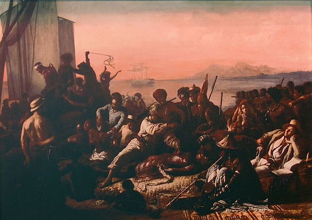 """The Slave Trade"" by Auguste François Biard, 1840."