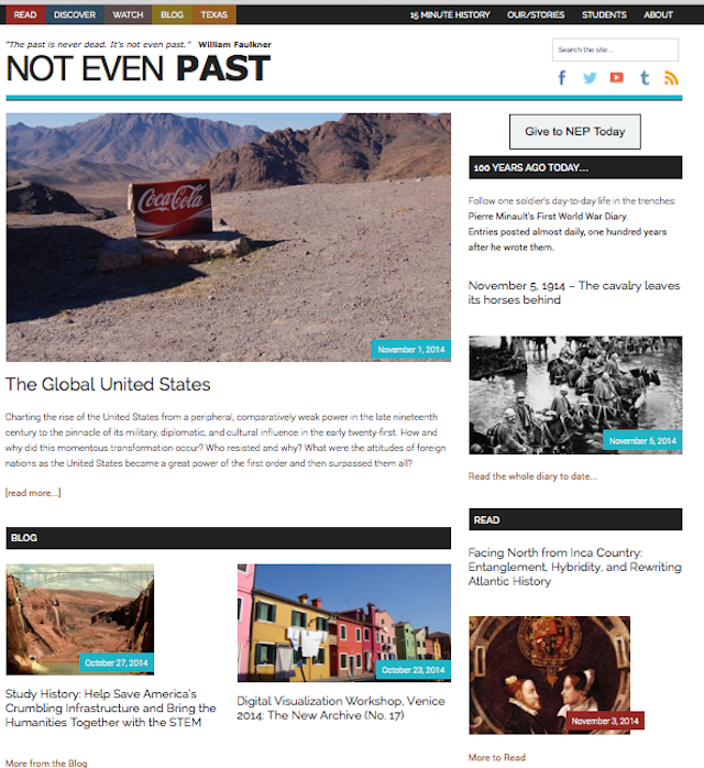Not Even Past brings primary sources, book recommendations, and the cutting edge research of the Department of History at UT Austin to the wider public through digital medium.