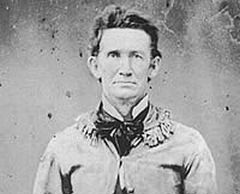 John Salmon Ford, photographed while serving as a Colonel in the Confederate 2nd Texas Cavalry during the War Between the States. Original photograph circa 1860 to 1865. (Via Wikimedia commons