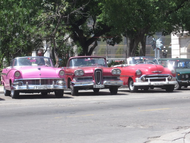 A taxi stand in Old Havana.