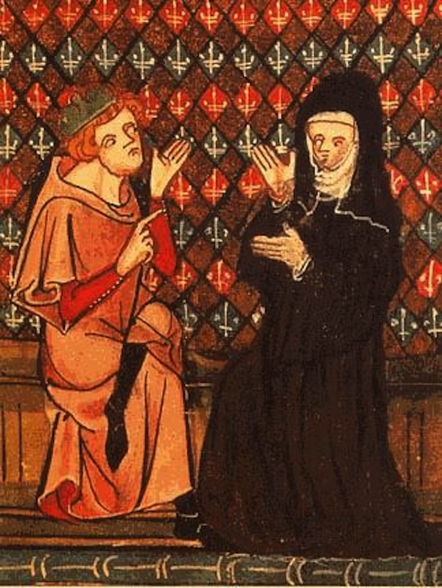 Abaelardus and Héloïse in the manuscript Roman de la Rose (14th century)