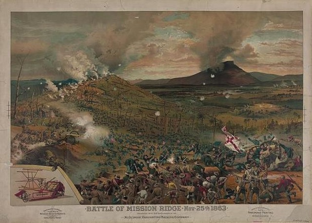 Battle of Missionary Ridge, 1863.