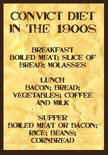 Convict diet 1900