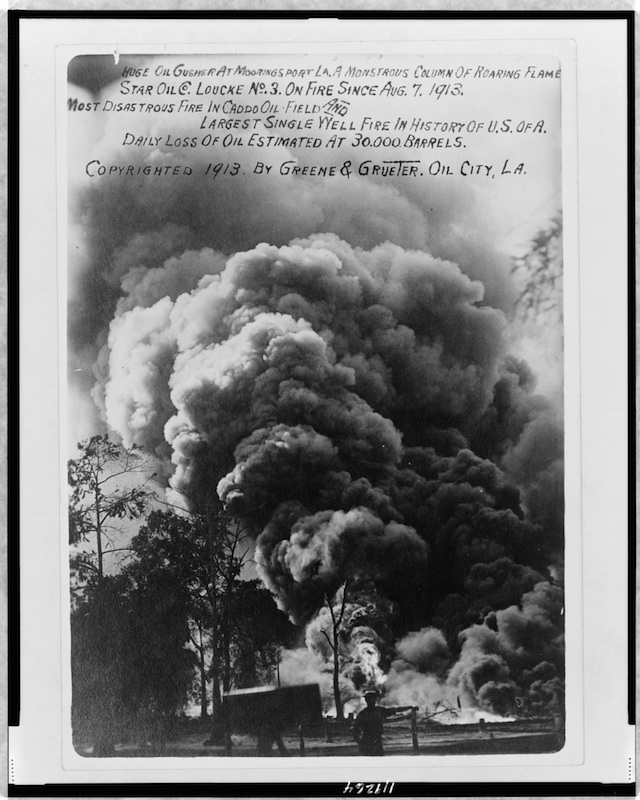 Fire at Mooring Sport, Louisiana, 1913